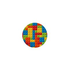 Lego Bricks Pattern 1  Mini Magnets by Sapixe