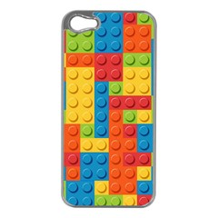Lego Bricks Pattern Apple Iphone 5 Case (silver) by Sapixe