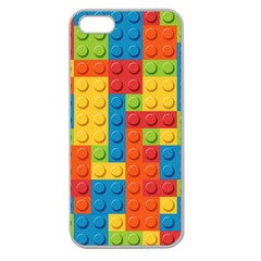 Lego Bricks Pattern Apple Seamless Iphone 5 Case (clear)