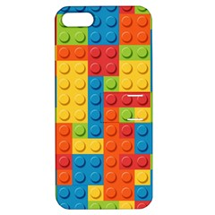 Lego Bricks Pattern Apple Iphone 5 Hardshell Case With Stand by Sapixe