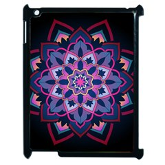 Mandala Circular Pattern Apple Ipad 2 Case (black) by Sapixe