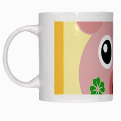 Luck Lucky Pig Pig Lucky Charm White Mugs