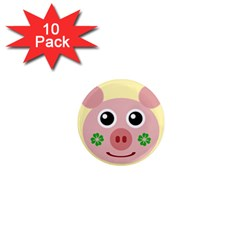 Luck Lucky Pig Pig Lucky Charm 1  Mini Magnet (10 Pack)
