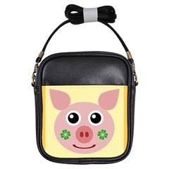 Luck Lucky Pig Pig Lucky Charm Girls Sling Bags by Sapixe