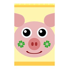 Luck Lucky Pig Pig Lucky Charm Shower Curtain 48  X 72  (small)  by Sapixe