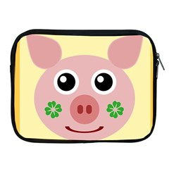 Luck Lucky Pig Pig Lucky Charm Apple Ipad 2/3/4 Zipper Cases by Sapixe