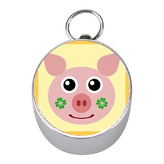 Luck Lucky Pig Pig Lucky Charm Mini Silver Compasses by Sapixe