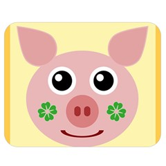Luck Lucky Pig Pig Lucky Charm Double Sided Flano Blanket (medium)