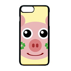 Luck Lucky Pig Pig Lucky Charm Apple Iphone 7 Plus Seamless Case (black) by Sapixe