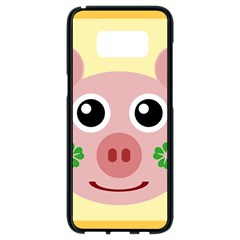Luck Lucky Pig Pig Lucky Charm Samsung Galaxy S8 Black Seamless Case by Sapixe