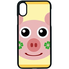 Luck Lucky Pig Pig Lucky Charm Apple Iphone X Seamless Case (black)