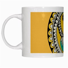 Madhubani Fish Indian Ethnic Pattern White Mugs