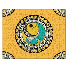 Madhubani Fish Indian Ethnic Pattern Rectangular Jigsaw Puzzl