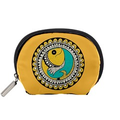 Madhubani Fish Indian Ethnic Pattern Accessory Pouches (small)