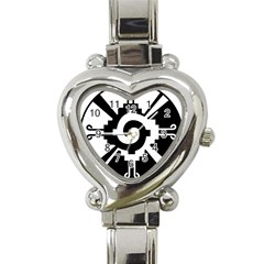 Maya Calendar Native American Religion Heart Italian Charm Watch by Sapixe
