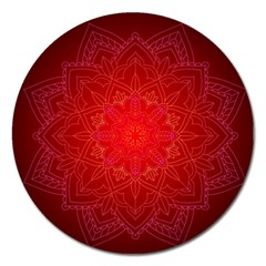 Mandala Ornament Floral Pattern Magnet 5  (round)