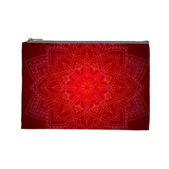 Mandala Ornament Floral Pattern Cosmetic Bag (large)  by Sapixe