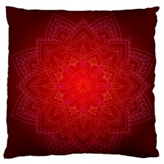 Mandala Ornament Floral Pattern Large Flano Cushion Case (two Sides) by Sapixe