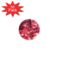 Maple Leaves Red Autumn Fall 1  Mini Magnet (10 Pack)