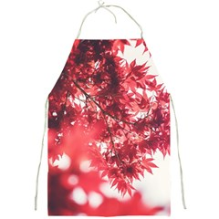 Maple Leaves Red Autumn Fall Full Print Aprons by Sapixe