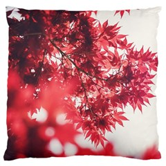 Maple Leaves Red Autumn Fall Large Cushion Case (two Sides) by Sapixe