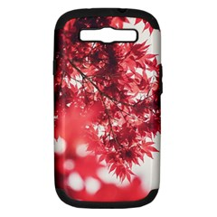 Maple Leaves Red Autumn Fall Samsung Galaxy S Iii Hardshell Case (pc+silicone) by Sapixe