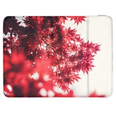Maple Leaves Red Autumn Fall Samsung Galaxy Tab 7  P1000 Flip Case by Sapixe