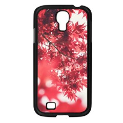 Maple Leaves Red Autumn Fall Samsung Galaxy S4 I9500/ I9505 Case (black)