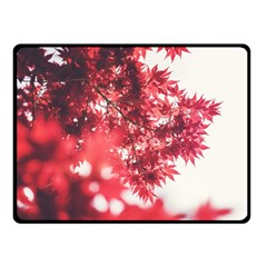 Maple Leaves Red Autumn Fall Double Sided Fleece Blanket (small)  by Sapixe