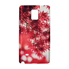 Maple Leaves Red Autumn Fall Samsung Galaxy Note 4 Hardshell Case by Sapixe