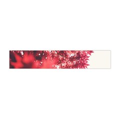 Maple Leaves Red Autumn Fall Flano Scarf (mini) by Sapixe