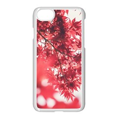 Maple Leaves Red Autumn Fall Apple Iphone 8 Seamless Case (white) by Sapixe