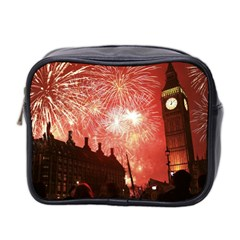 London Celebration New Years Eve Big Ben Clock Fireworks Mini Toiletries Bag 2 Side by Sapixe