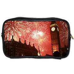 London Celebration New Years Eve Big Ben Clock Fireworks Toiletries Bags 2 Side by Sapixe