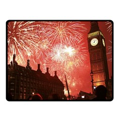 London Celebration New Years Eve Big Ben Clock Fireworks Fleece Blanket (small) by Sapixe