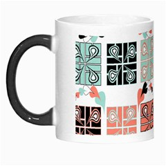 Mint Black Coral Heart Paisley Morph Mugs by Sapixe