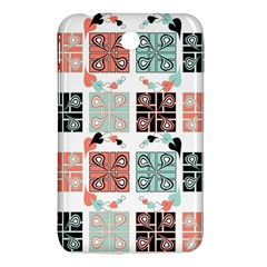 Mint Black Coral Heart Paisley Samsung Galaxy Tab 3 (7 ) P3200 Hardshell Case  by Sapixe