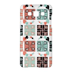 Mint Black Coral Heart Paisley Samsung Galaxy A5 Hardshell Case
