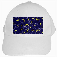 Moon Pattern White Cap