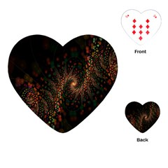 Multicolor Fractals Digital Art Design Playing Cards (heart)  by Sapixe