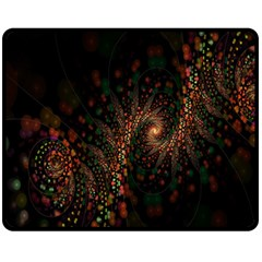 Multicolor Fractals Digital Art Design Fleece Blanket (medium)