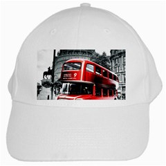 London Bus White Cap