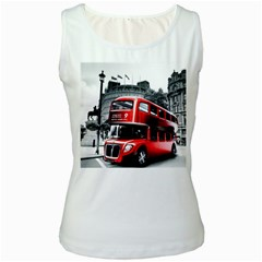 London Bus Women s White Tank Top