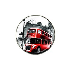 London Bus Hat Clip Ball Marker (4 Pack)