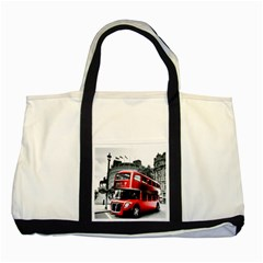 London Bus Two Tone Tote Bag