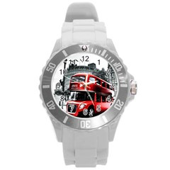 London Bus Round Plastic Sport Watch (l)