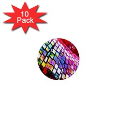 Multicolor Wall Mosaic 1  Mini Magnet (10 Pack)