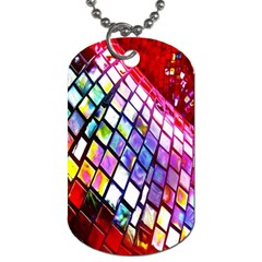 Multicolor Wall Mosaic Dog Tag (one Side) by Sapixe