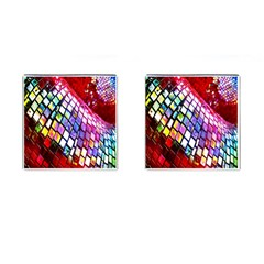 Multicolor Wall Mosaic Cufflinks (square)