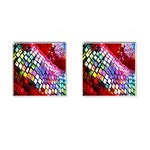 Multicolor Wall Mosaic Cufflinks (Square) Front